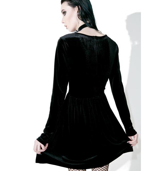 Glamorous Knight Floral Velvet Dress