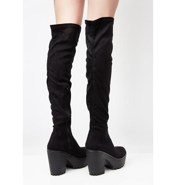 Get Down To Business Thigh-High Boots