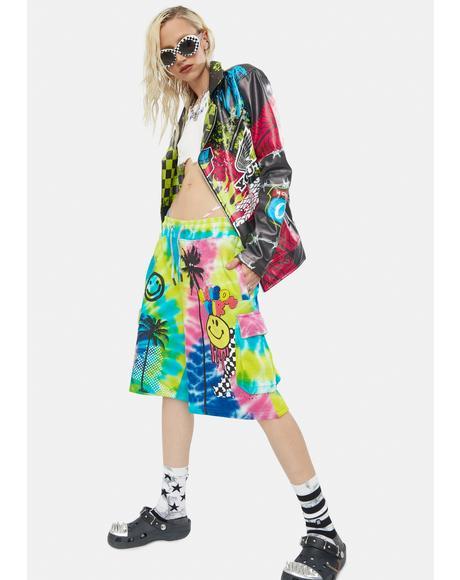 Sunshine Tie Dye Cargo Shorts