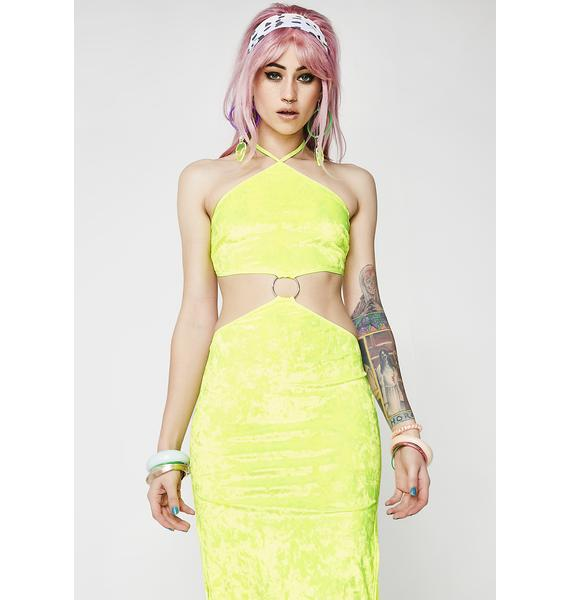 Club Exx Dosed On Decibels Cut-Out Dress