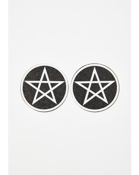 Wicca Pentagram Glitter Pasties