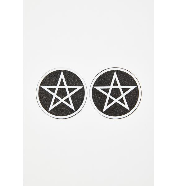 Neva Nude Wicca Pentagram Glitter Pasties
