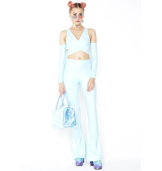 Babydol Clothing Baby Blue Crop And Arm Warmers