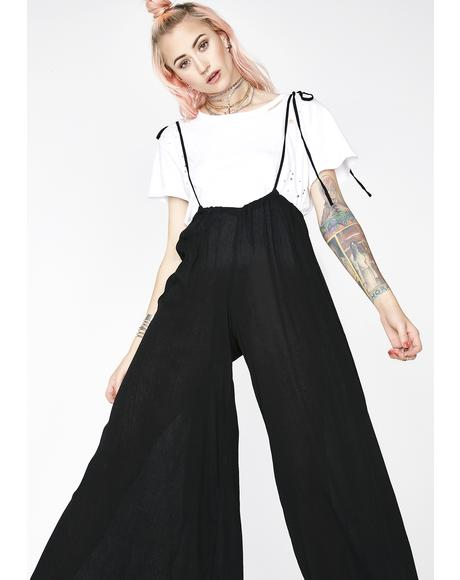 Dark Let It Flow Wide Leg Jumpsuit