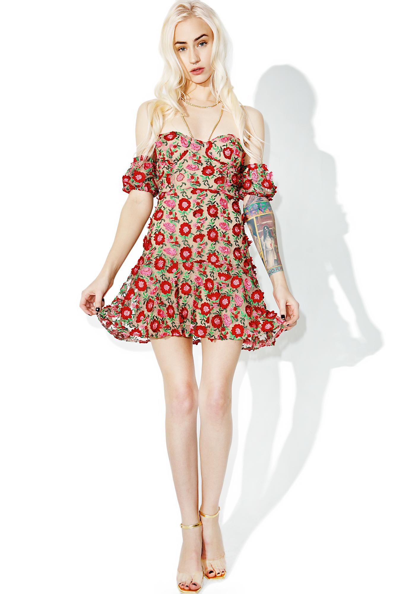 4ea7fc9da0 For Love & Lemons Amelia Strapless Mini Dress | Dolls Kill
