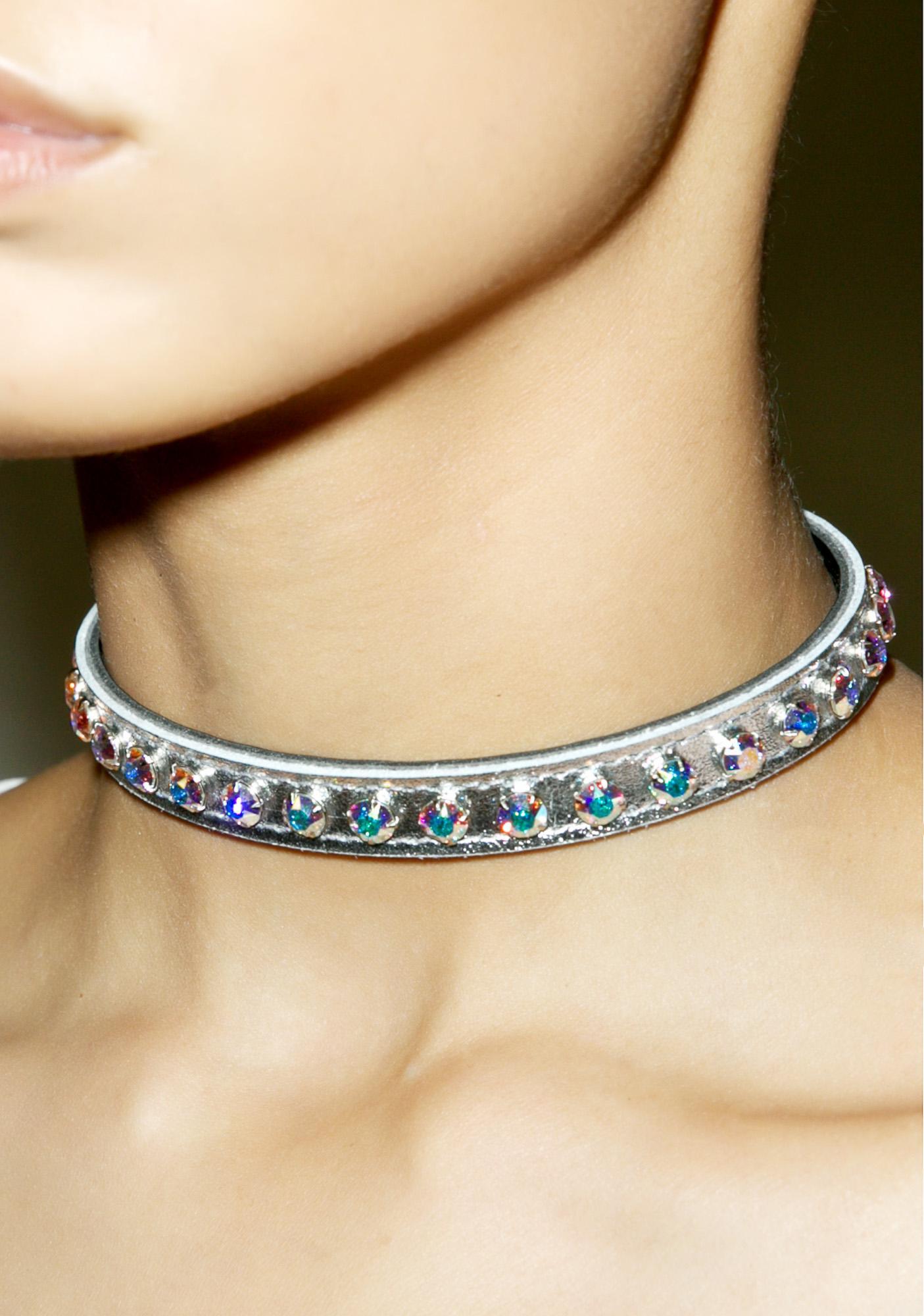 Silver Aurora Borealis Choker