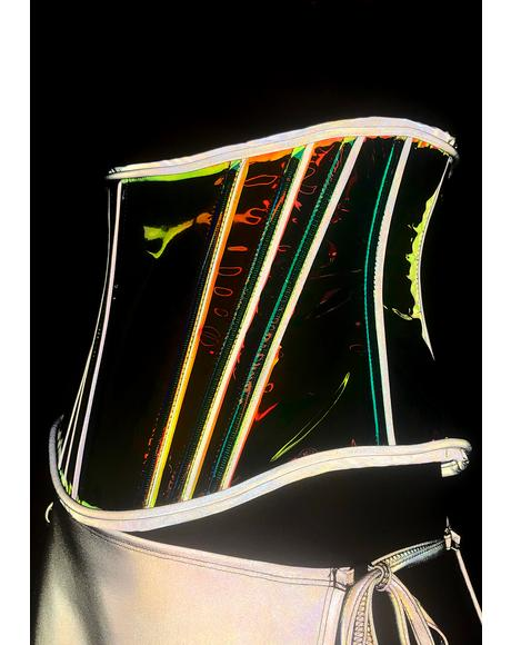 Burnerette Reflective Glow Corset