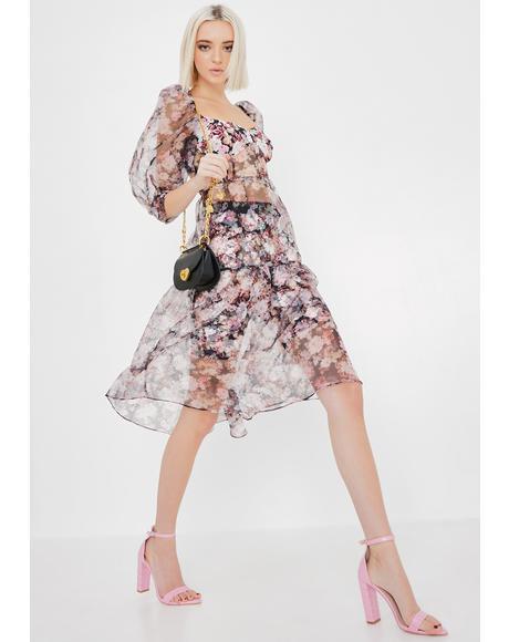 Faye Sheer Midi Dress