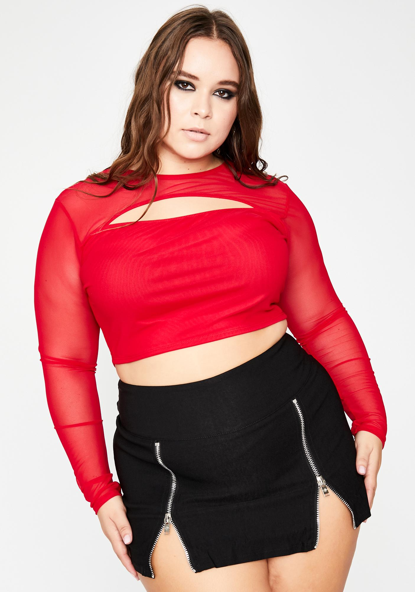 She's Such A Show Off Mesh Top