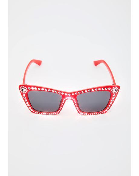 Something's Gotta Give Rhinestone Sunglasses
