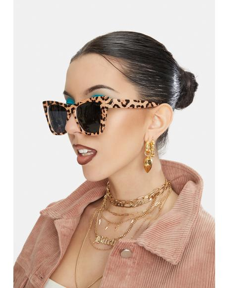 Leopard Ashbury Cat-Eye Sunglasses