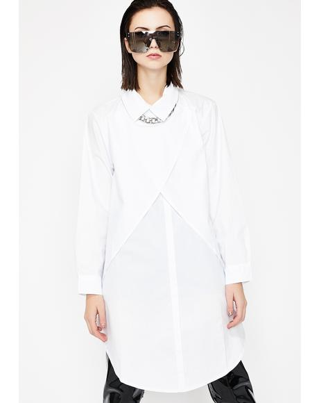 Scientista Collared Shirt Dress