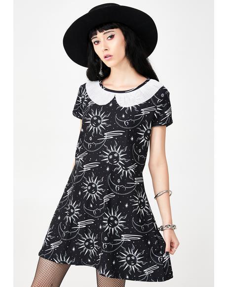 Celestial A-Line Mini Dress