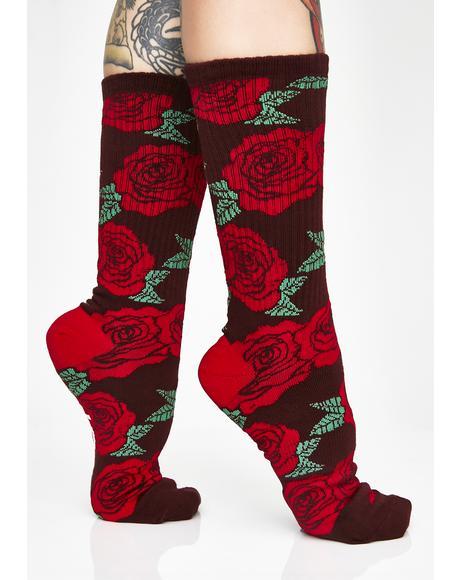 Rosette Socks