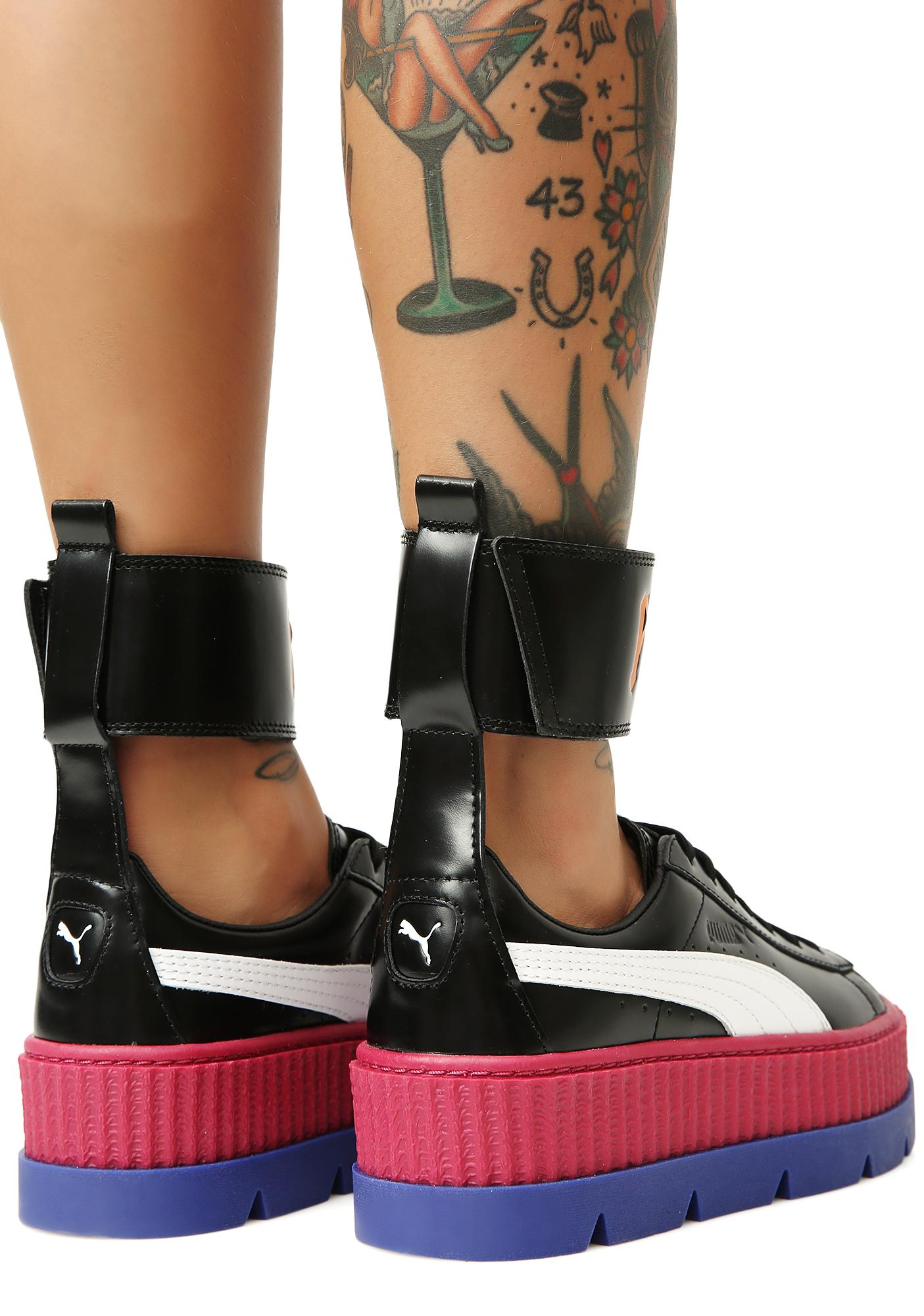 5f109052e PUMA FENTY PUMA by Rihanna Ankle Strap Sneakers | Dolls Kill