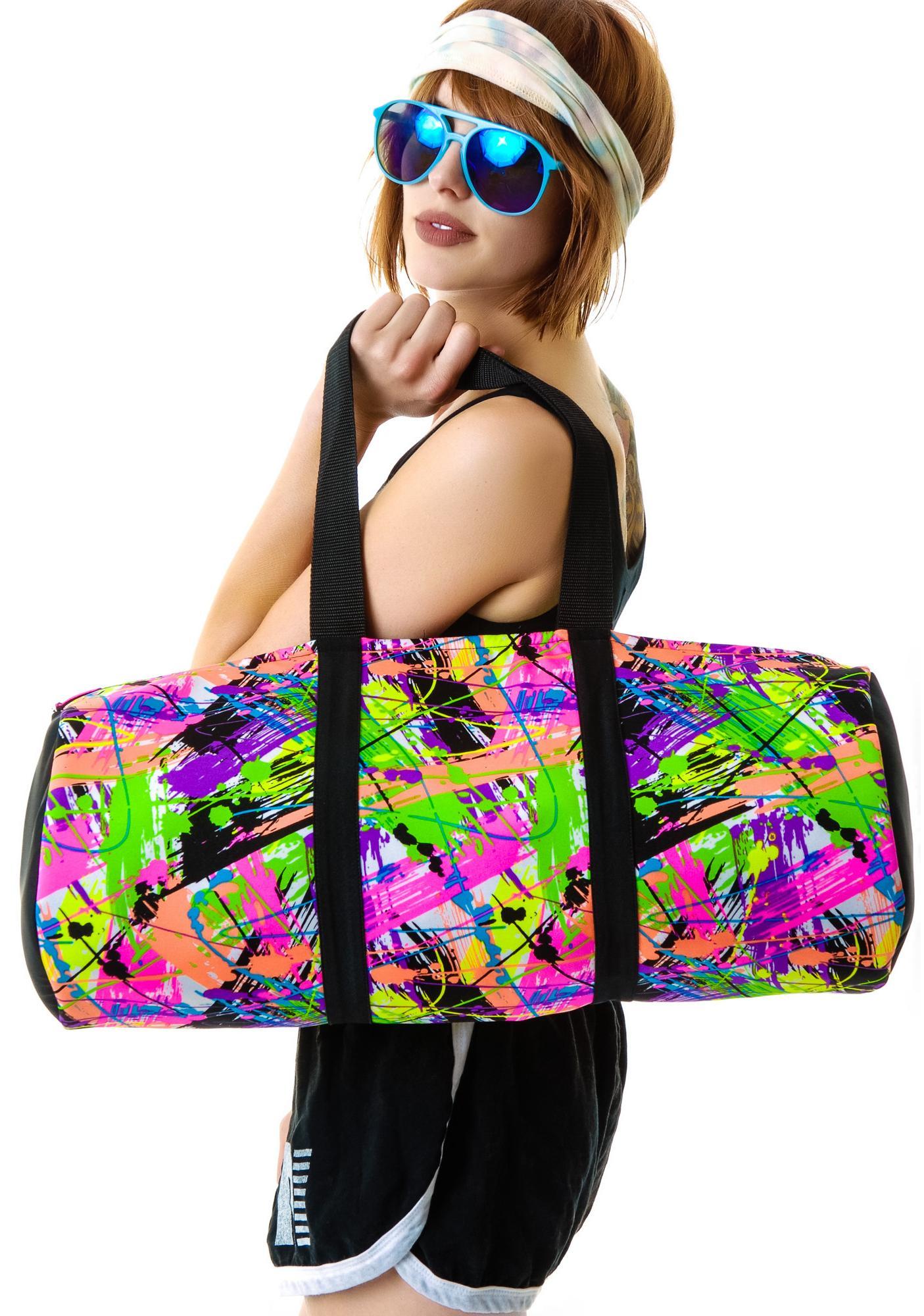 Terez Neon Splatter Dance Bag