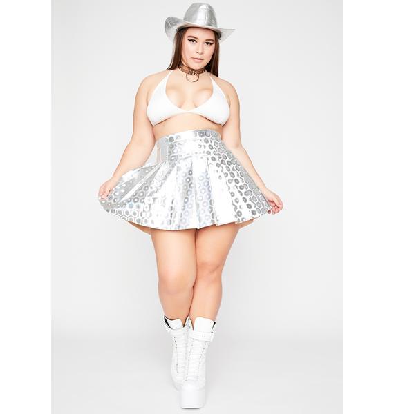 Divine Space Vixen Holographic Skirt