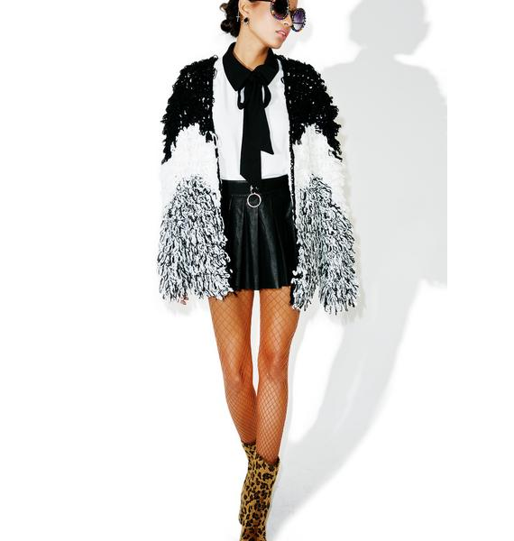 Glamorous Showdown Shag Coat