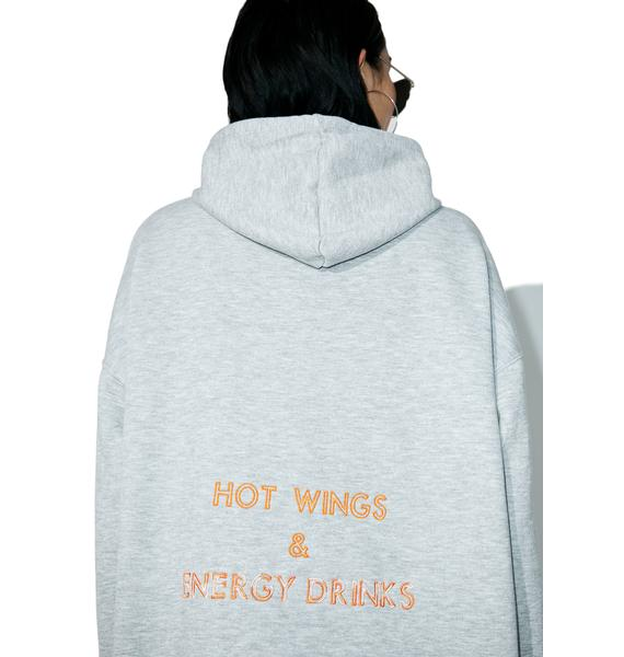 W.I.A Hot Wings And Energy Drinks Hoodie