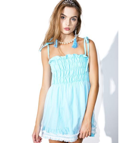 Melonhopper Blueberry Play Date Smock Dress