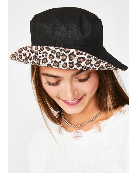Sinful Make Me Purr Leopard Bucket Hat