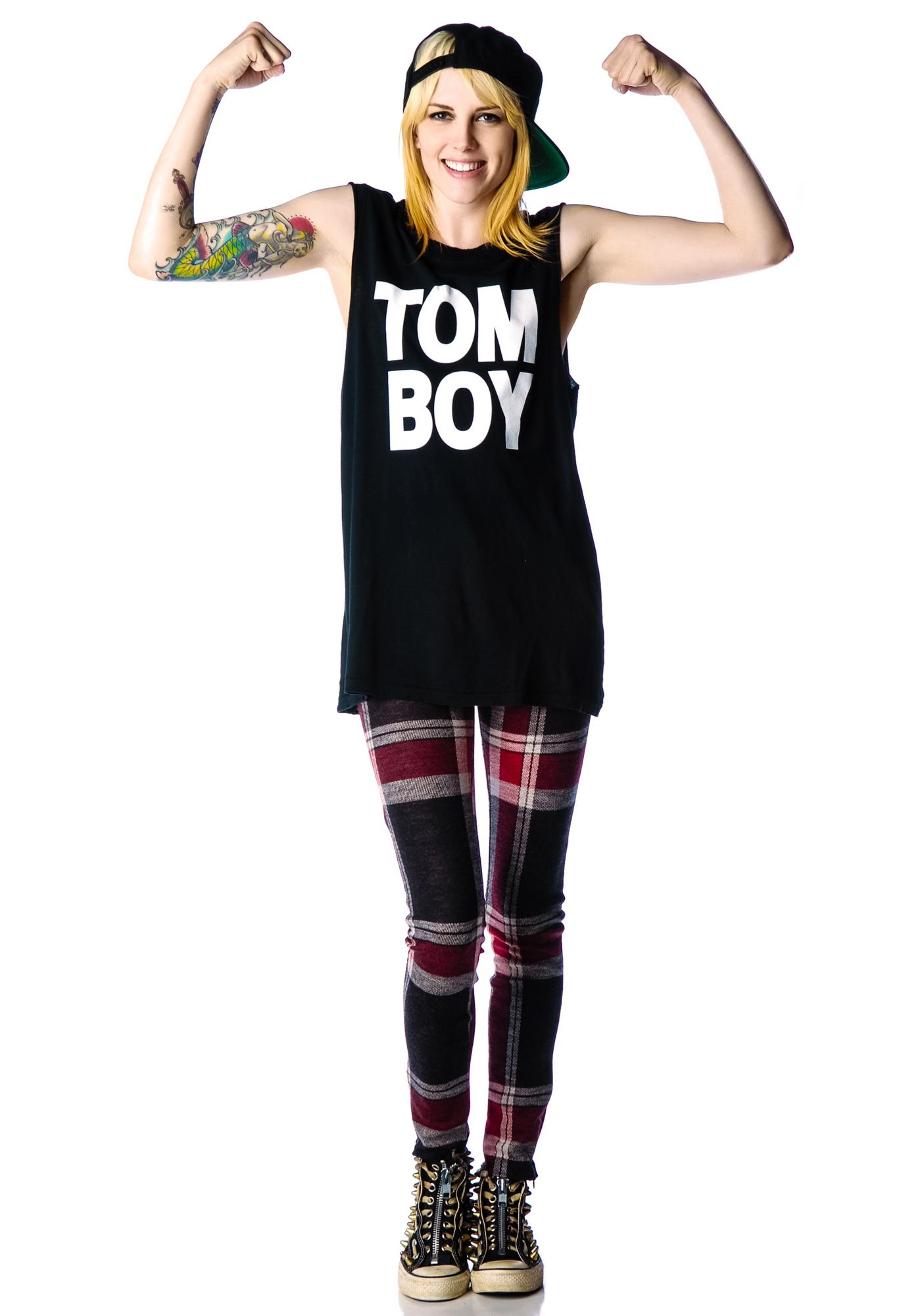 Petals and Peacocks Tom Boy Tank