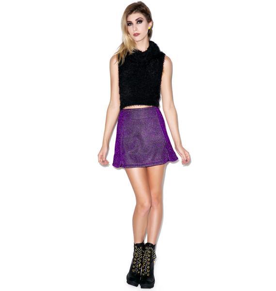 Motel Paige Glitter Mini Skirt