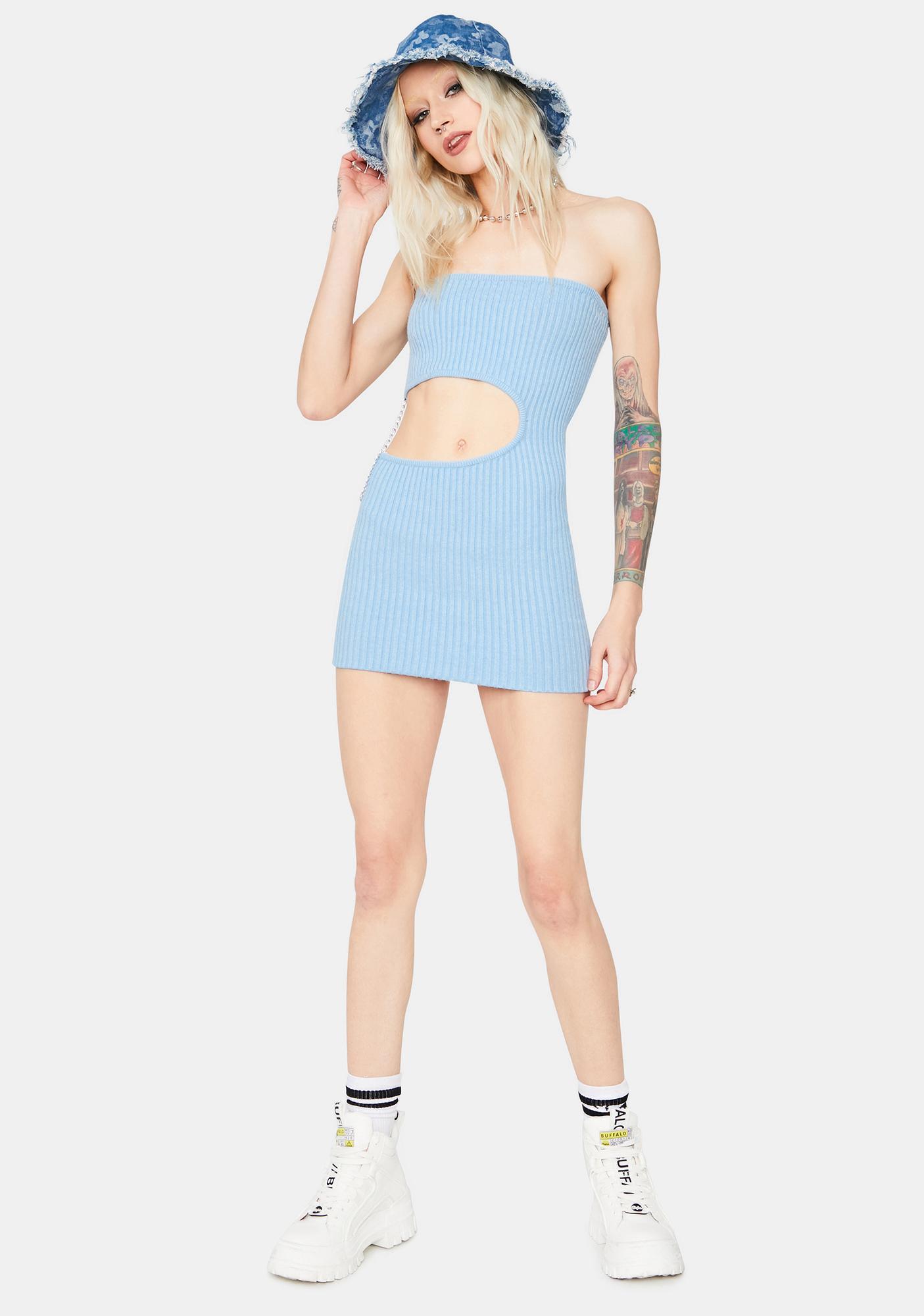 Pool Risky Behavior Cutout Tube Dress