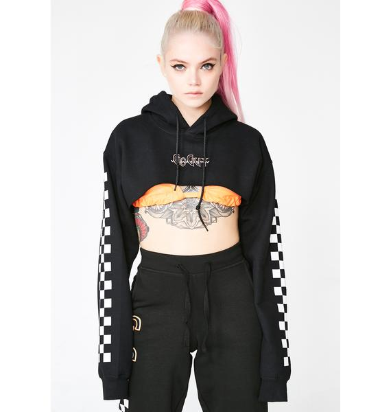 GoGuy Checkerboard Super Crop Hoodie