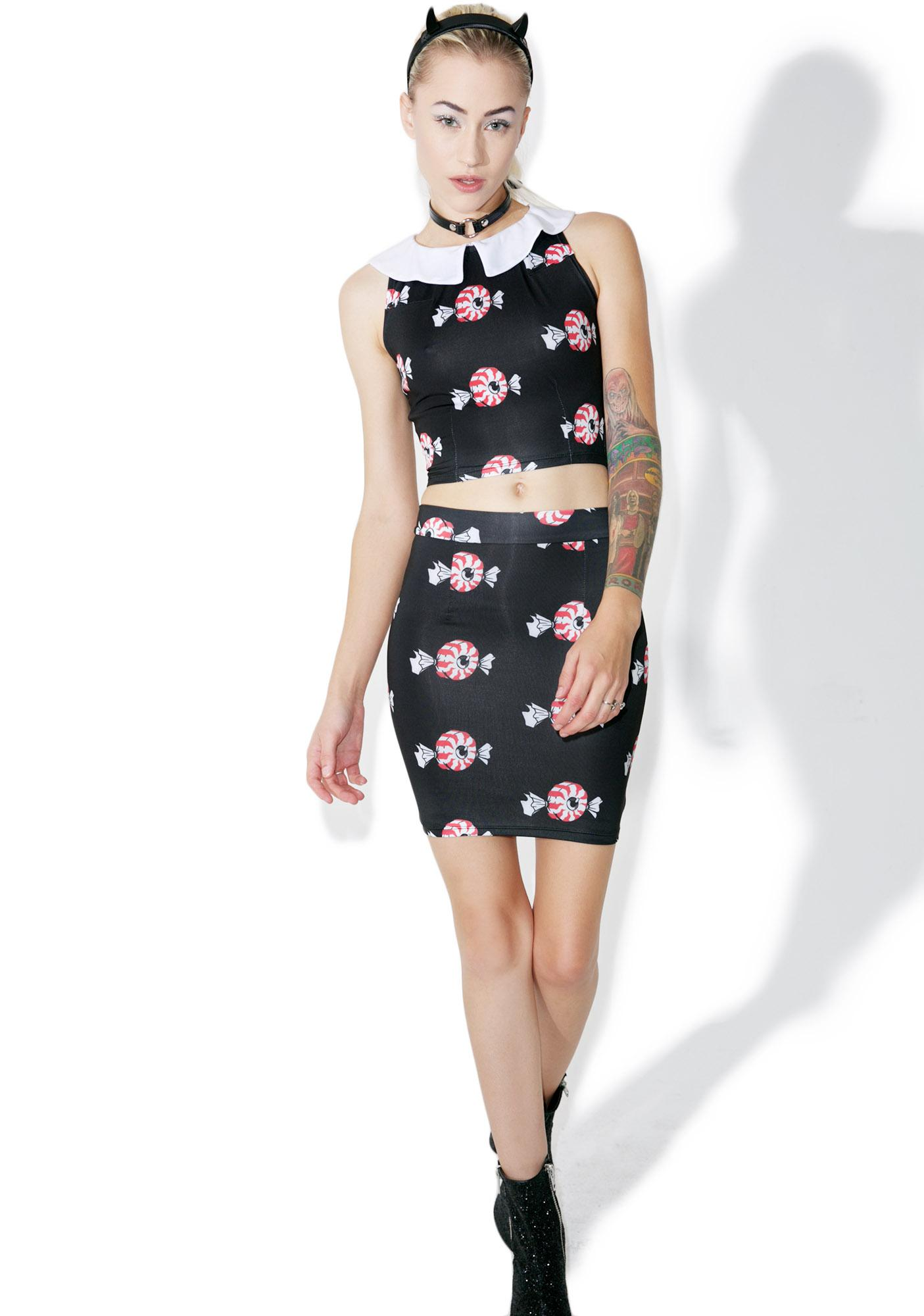 Vera's Eyecandy Creepy Candy 2 Piece Dress