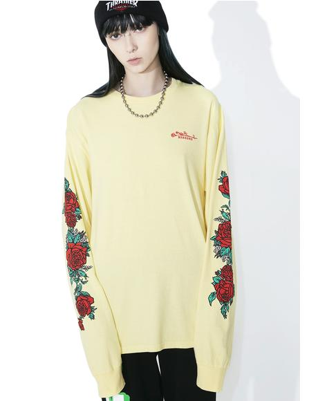 Rose Patterns Long Sleeve Tee