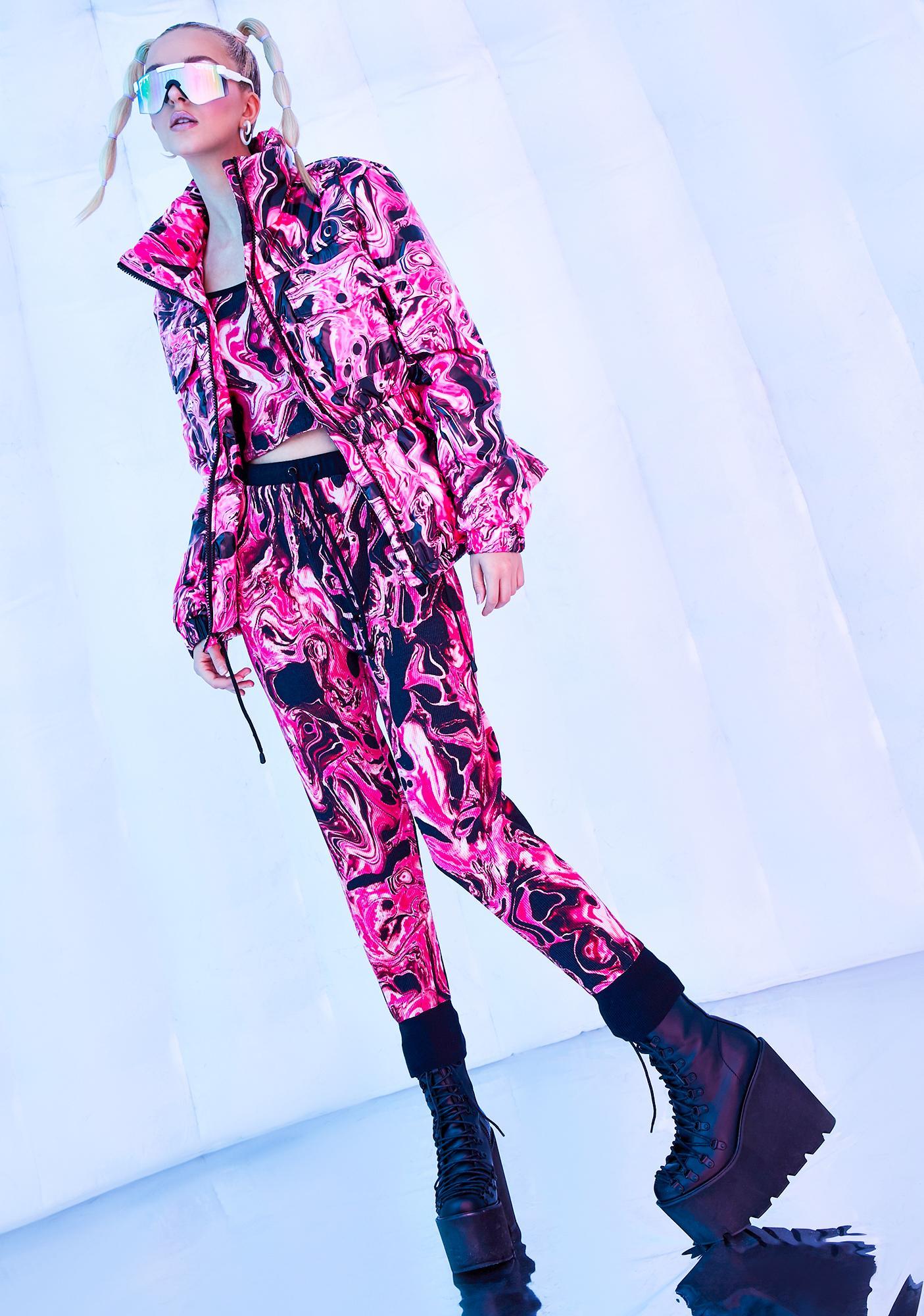 Club Exx Lady Acid Dimension Puffer Jacket