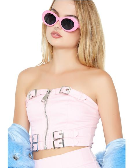 Not So Sweet Strapless Crop Top