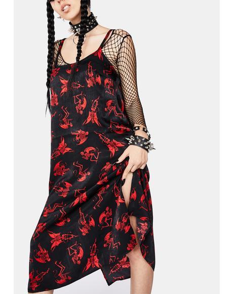 Evil Activities Midi Dress