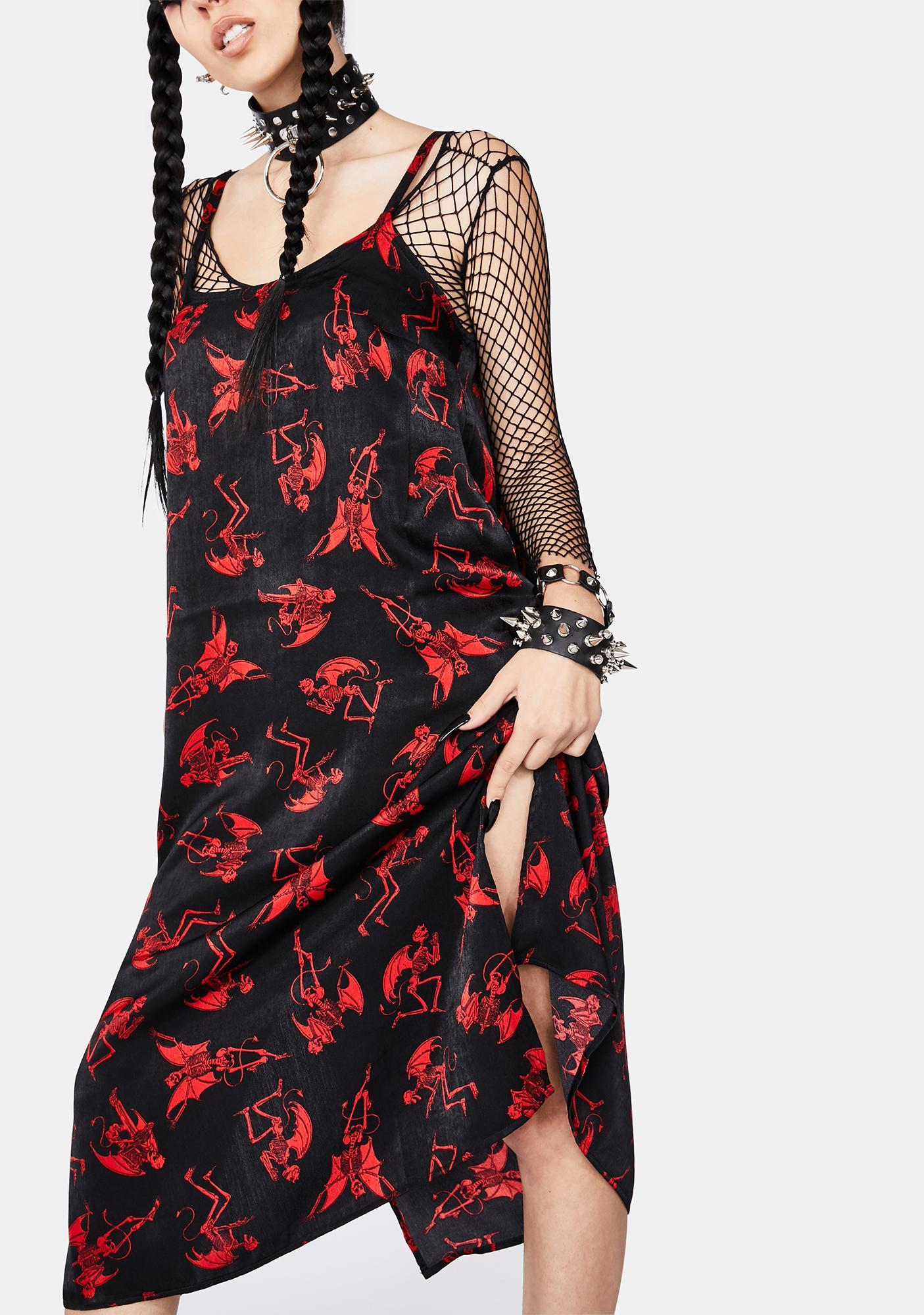 Black Friday Evil Activities Midi Dress