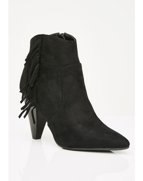 Bingin' On Fringe Ankle Boots