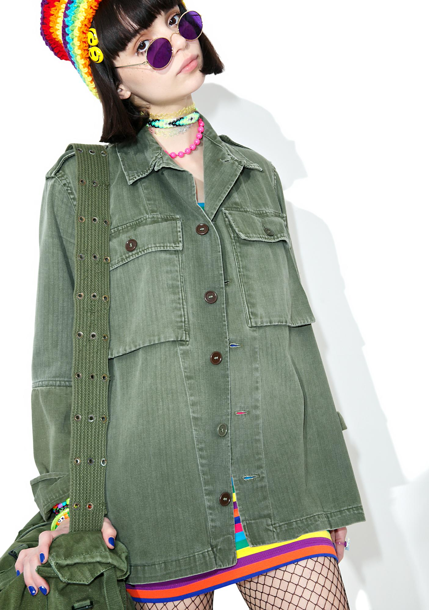 Vintage Oversize Army Surplus Jacket