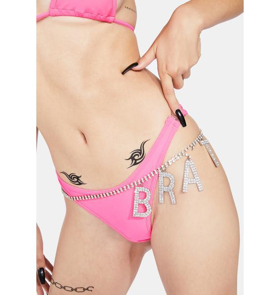 Debutante Intimates Heatwave Pink Heaven Sent Thong