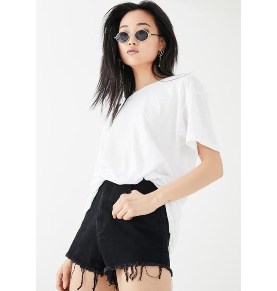 Momokrom Acid Wash Mini Shorts