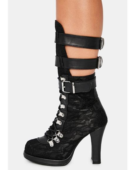 Crypto Lace Buckle Boots