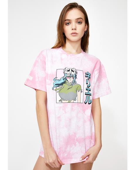X Bleach Nel Tie Dye Graphic Tee