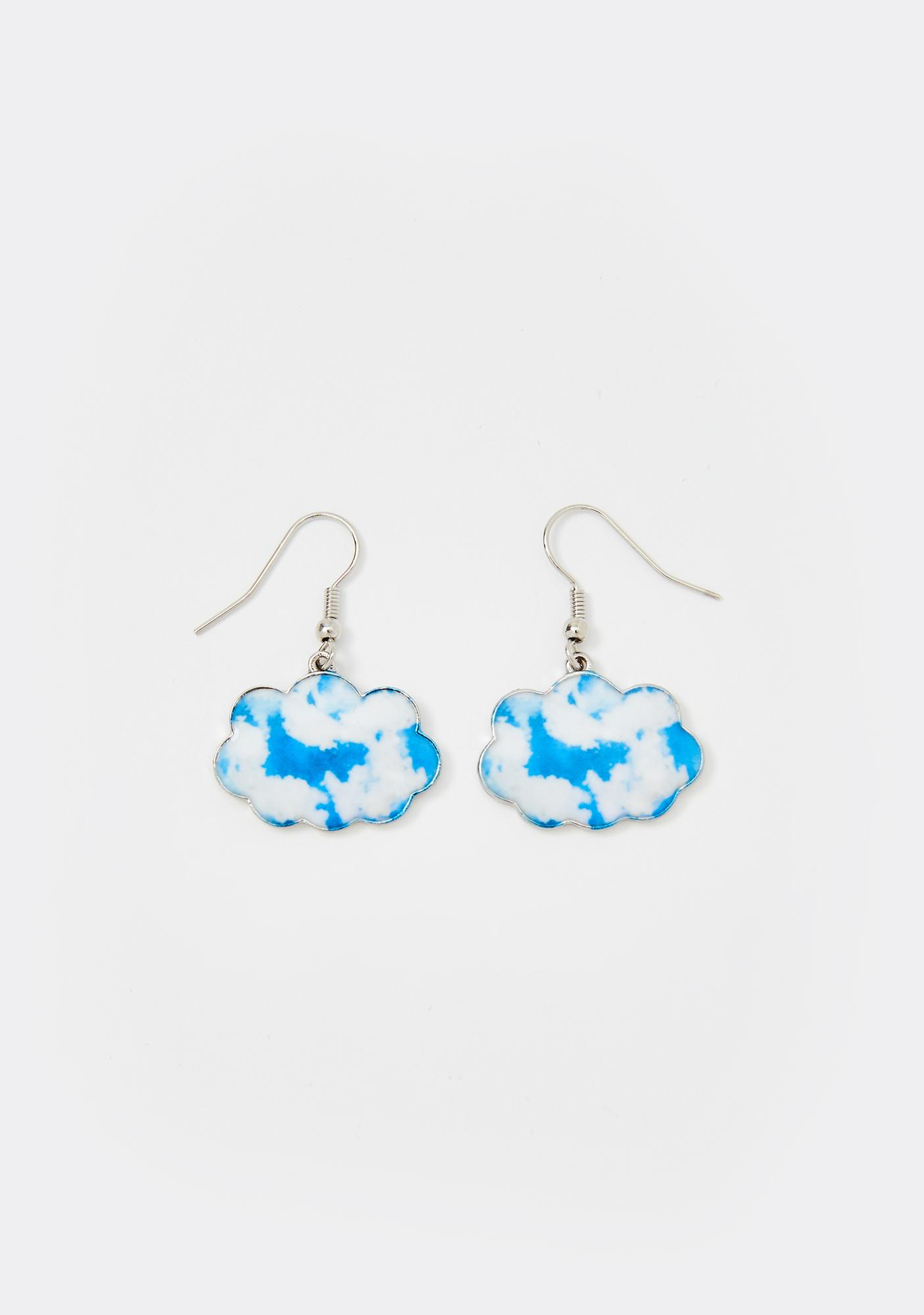 Can't Come Down Cloud Earrings