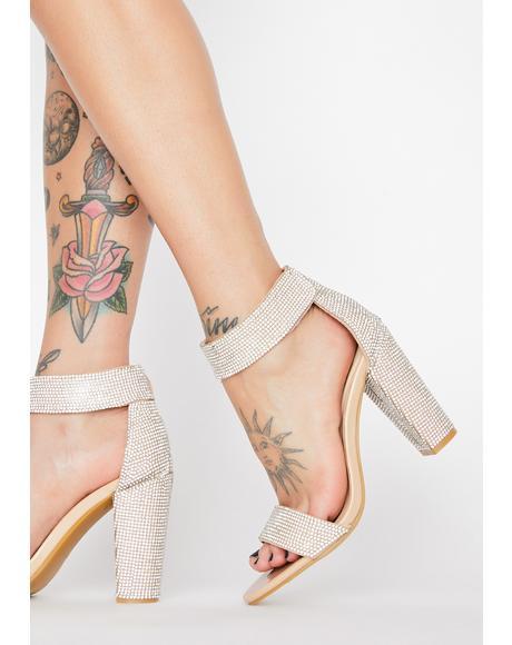 My Spotlight Rhinestone Heels