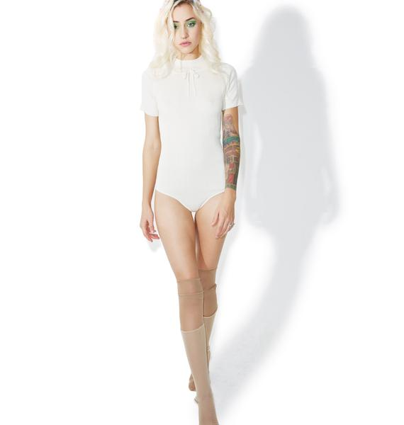 For Love & Lemons Creme Delancey Bodysuit
