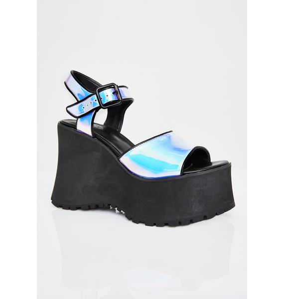HOROSCOPEZ Tide Pool Holographic Sandals