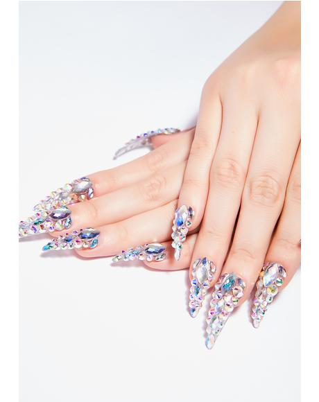 Diamante Nail Set