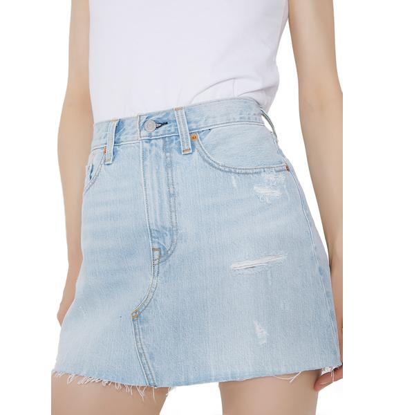Levis Deconstructed Denim Skirt