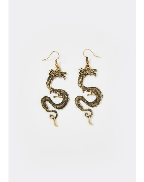 Magic Touch Dragon Earrings