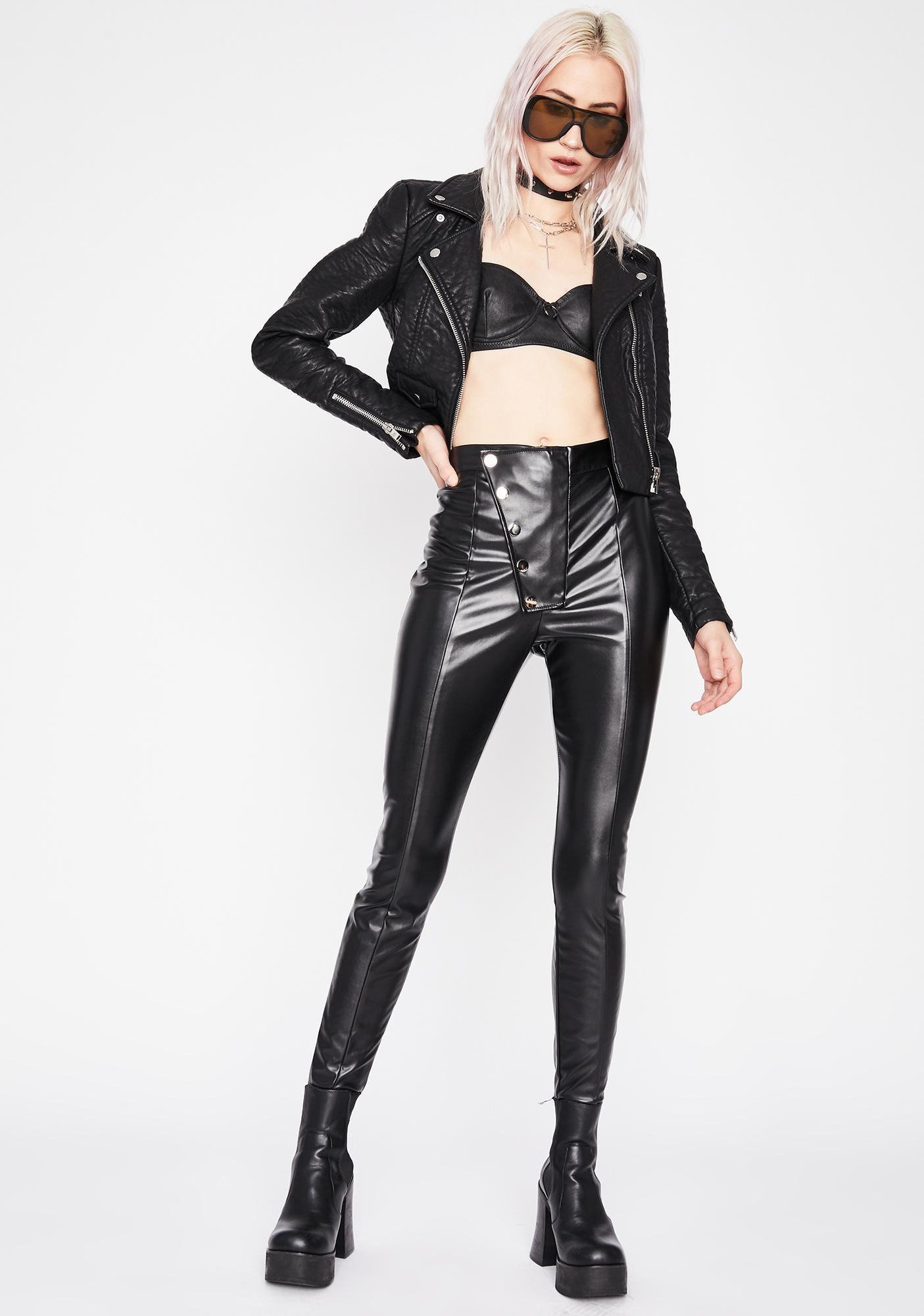 Off The Grid Faux Leather Pants