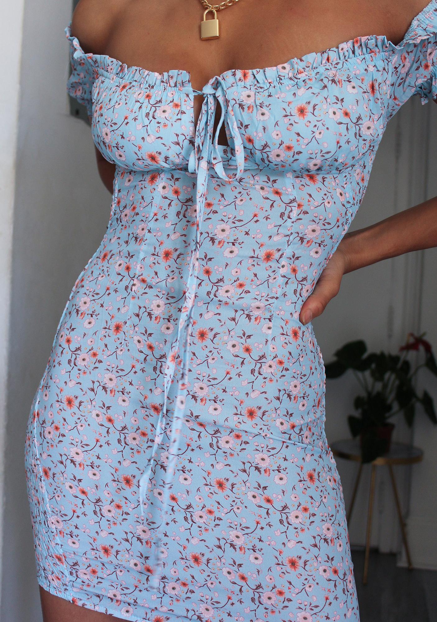 Summer Picnic Off The Shoulder Dress